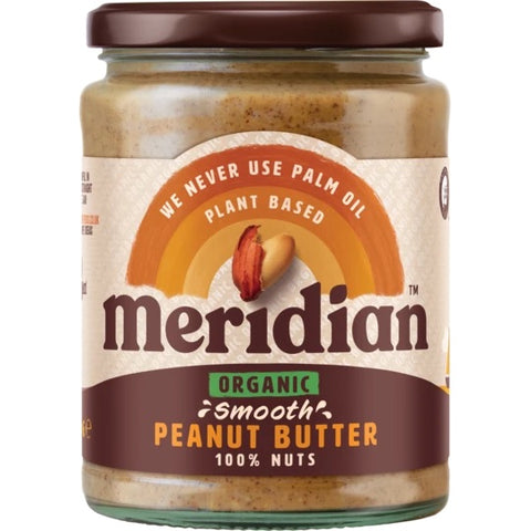 Meridian Organic Smooth Peanut Butter 470g