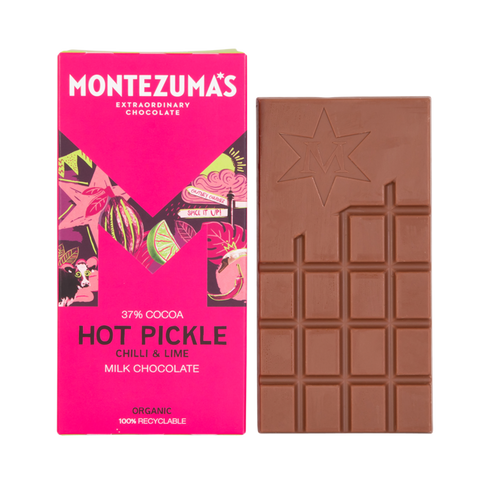 Montezuma's Hot Pickle Milk Chocolate with Chilli & Lime