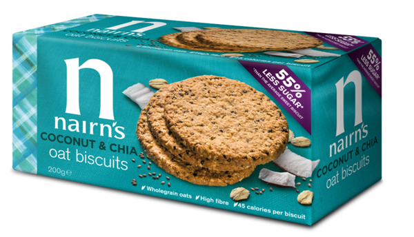 Nairn's Coconut & Chia Oat Biscuits (20% OFF)