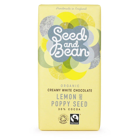Seed and Bean White Chocolate with Lemon & Poppy Seed (30%)