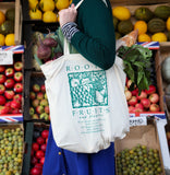 Roots Fruits & Flowers Cloth Bag - Roots Fruits & Flowers Glasgow