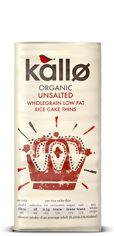Kallø Unsalted Rice Cake Thins