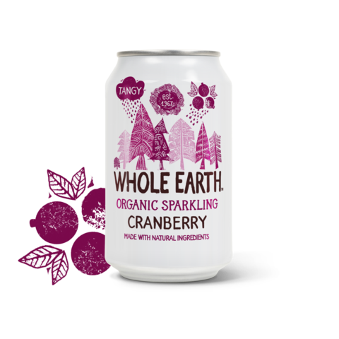 Whole Earth Organic Sparkling Cranberry