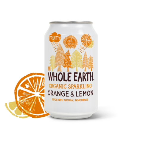 Whole Earth Organic Sparkling Orange & Lemon