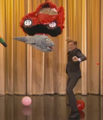 Conan O'Brien's Pinata Workout: Can he Break six in Under a Minute?