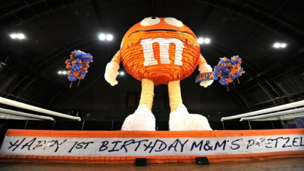 M&M Breaks Guinness World Record With its Mr Pretzel's Pinata