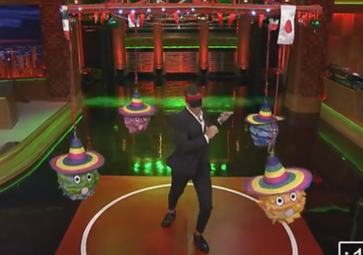 Jimmy Fallon and Will Arnett Kick some Pinatas!