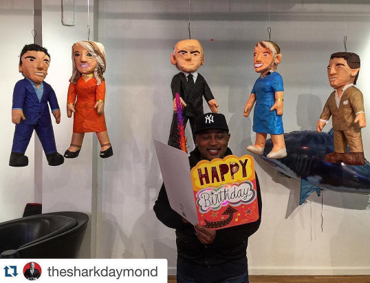 Shark Tank Millionaire Daymond John Gets some Custom Pinatas for his Birthday!