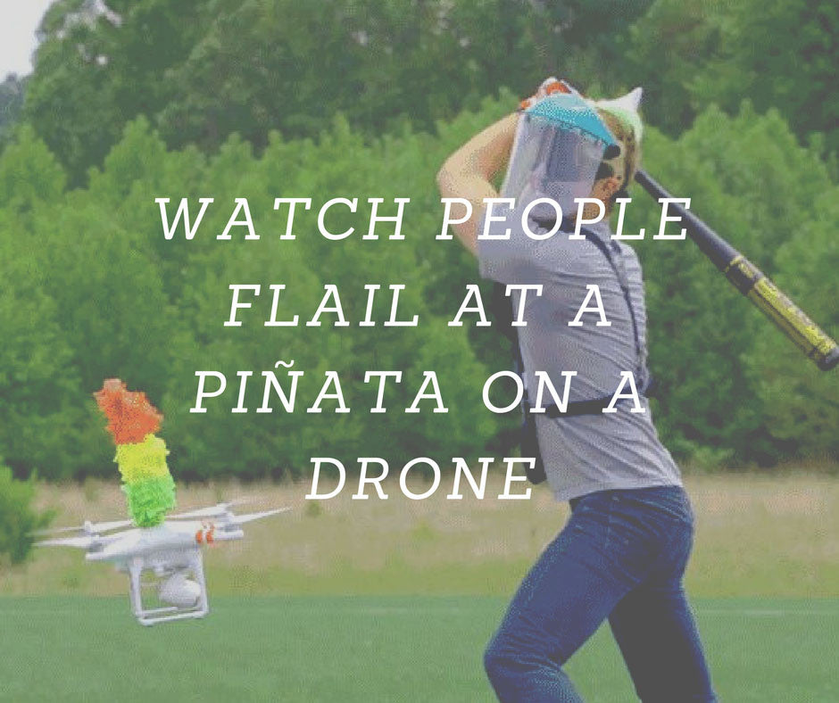 Watch People Flail At A Piñata On A Drone