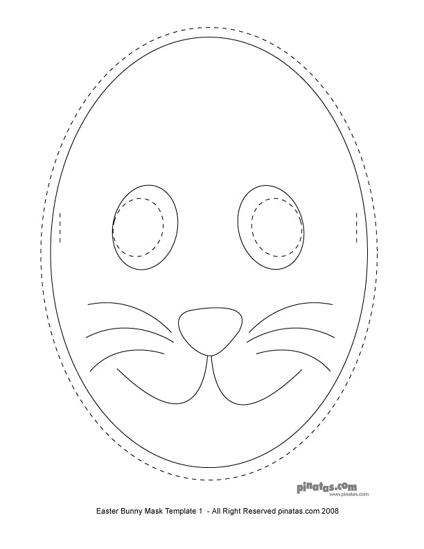 Easter Party Crafts Bunny Mask Free Printable Templates