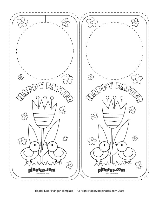 Easter Party Crafts Easter Door Hanger  Free Printable Templates