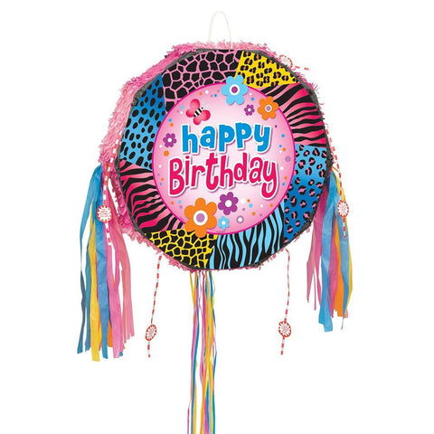 Wild Birthday Pinata Pop Out Drum Pinata