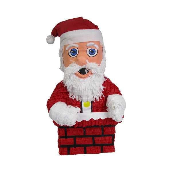 Santa Claus in Chimney Christmas Pinata