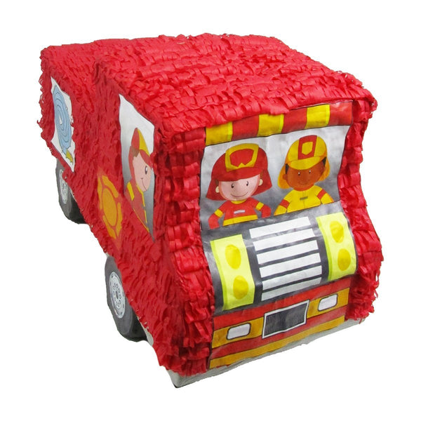 Fire Engine Pinata for Firefighters Party, Game, Decoration and Photo Prop