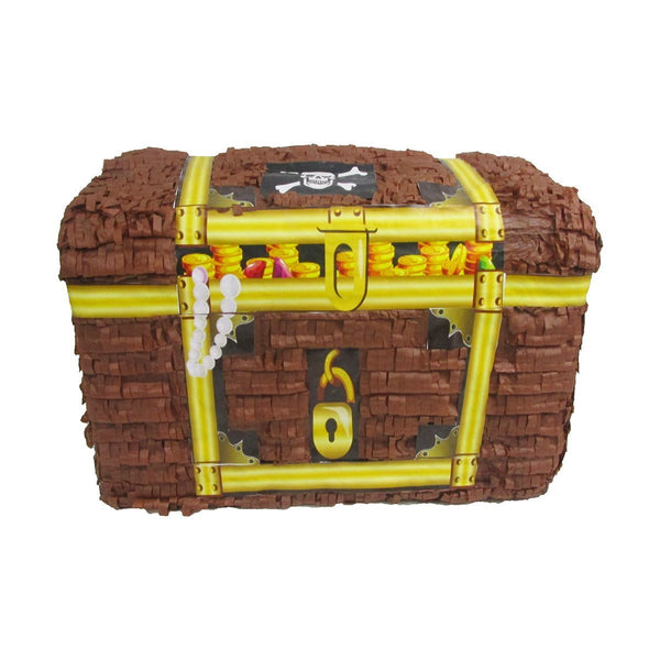 Treasure Chest Pinata for Pirates Party, Game, Decoration and Photo Prop
