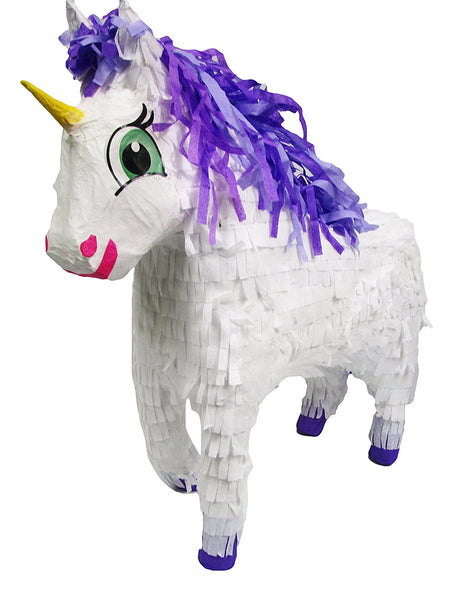 "Medium Fairytale Unicorn Pinata, 3D, 21"" Long"