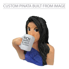Custom Girl with Cup Pinata