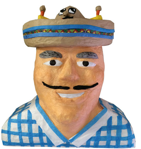 Custom Man with Mexican Hat Pinata