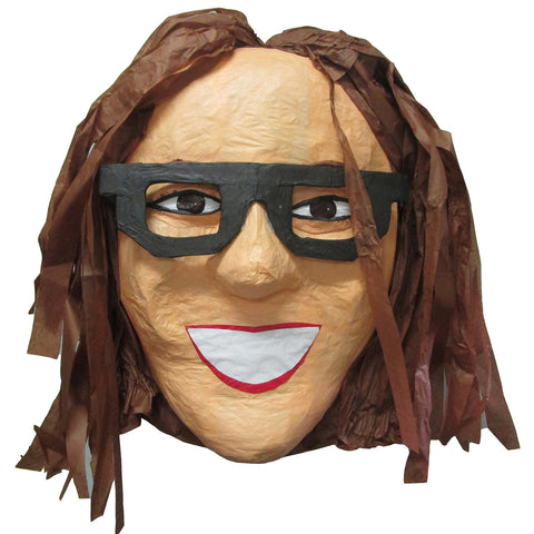 Woman With Glasses Custom Pinata