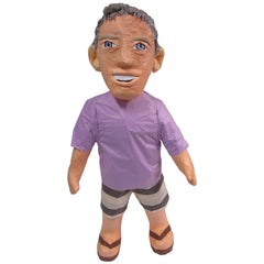 Man Purple Shirt Smile Custom Pinata