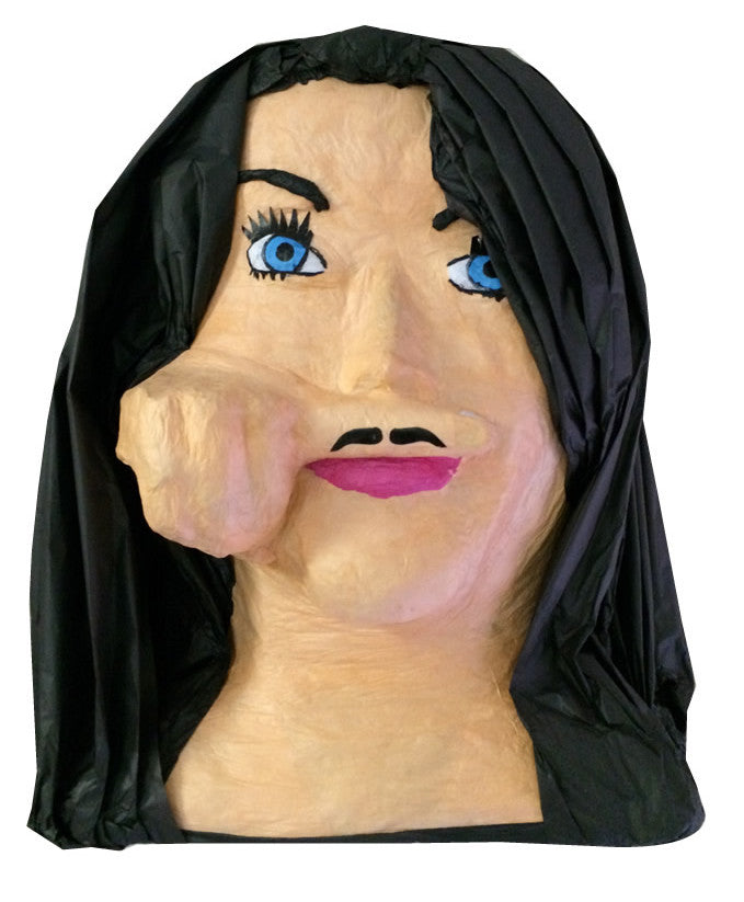 Custom Woman with Mustache Pinata
