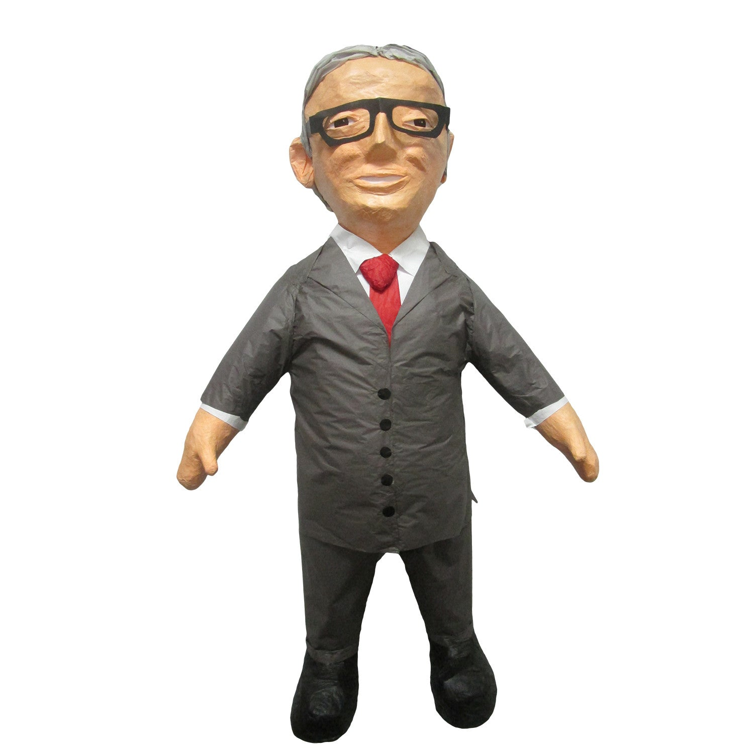 Man With Suit and Glasses Custom Pinatas
