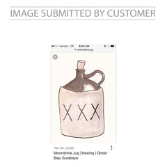 Moonshine Jug Drawing Custom Pinata