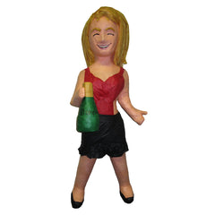 Women with Champagne Bottle Custom Pinata