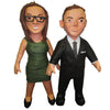 Couple Man Suite Women Green Dress
