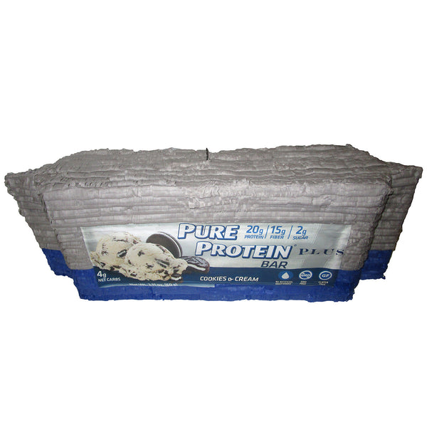 Pure Protein Bar Blue Custom Pinata