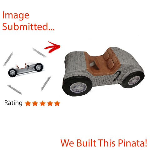 Large Silver Arrow Car Motor Pinata