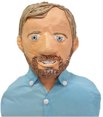 Custom Man in Blue Shirt Pinata