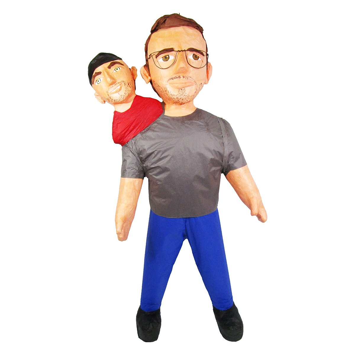 CUSTOM TWO HEADED PERSON PINATA