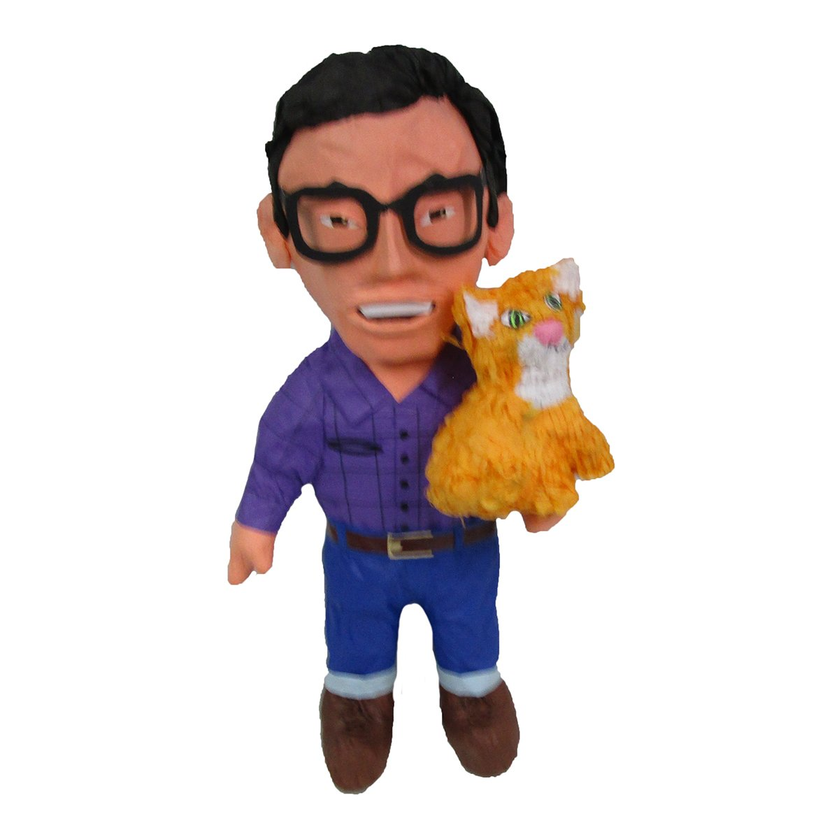 CUSTOM PERSON PINATA WITH CAT