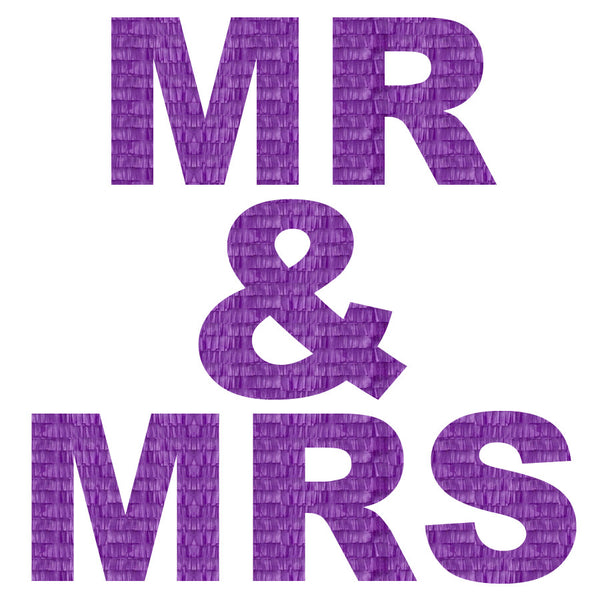 Custom Mr. & Mrs. Message Pinata
