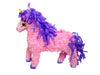 "Medium Pink Unicorn Pinata, 3D, 21"" Long"