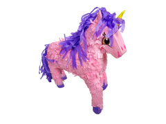Medium Pink Unicorn Pinata, 3D, 21