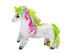 Medium Unicorn Pinata with Rainbow Mane, 3D