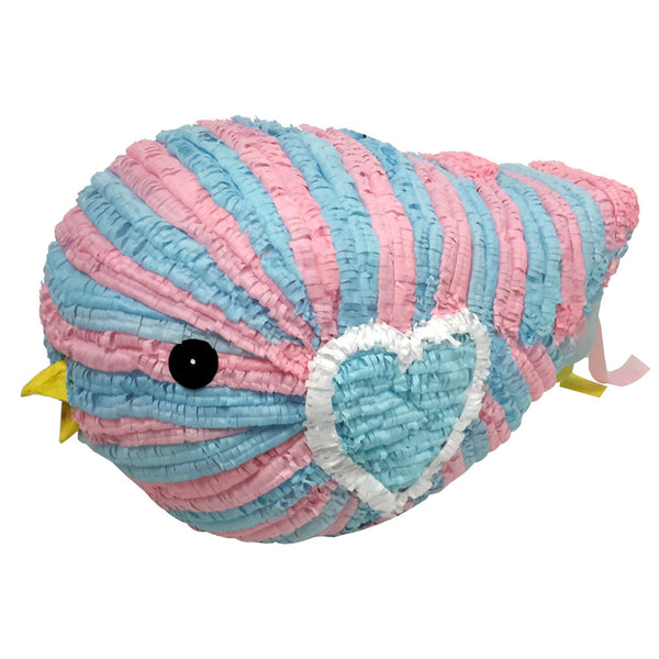 Large Baby Bird Pinata   Blue/Pink   Signature Line
