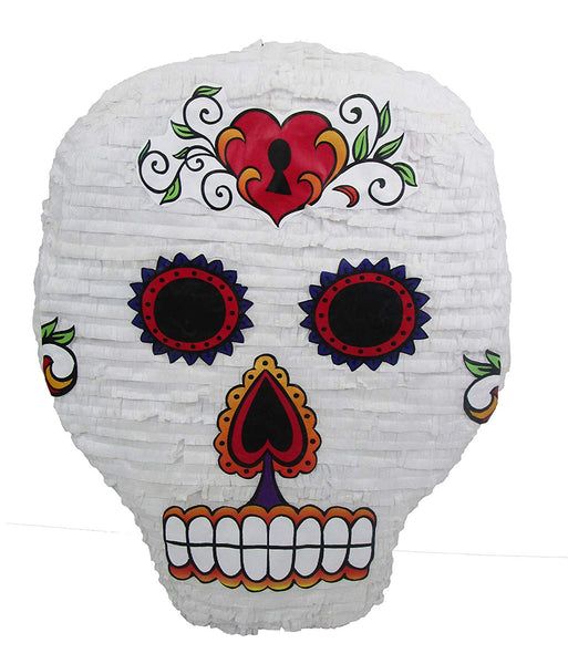 Sugar Skull Pinata - Halloween Party Game and Dia de los Muertos Decoration