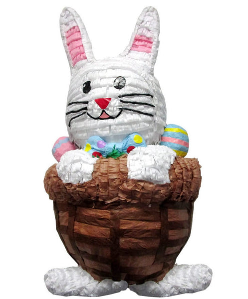 Large Easter Bunny in Basket Pinata - Signature Line