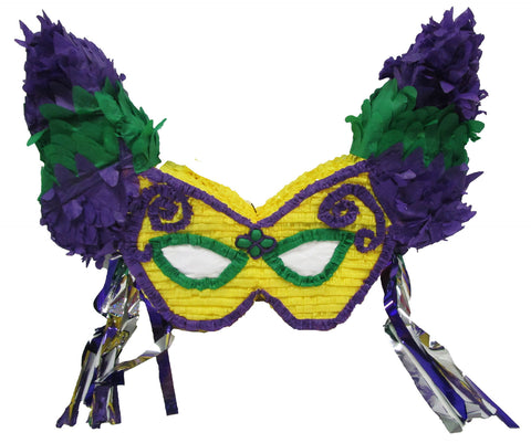Large Signature Mardi Gras Mask Pinata