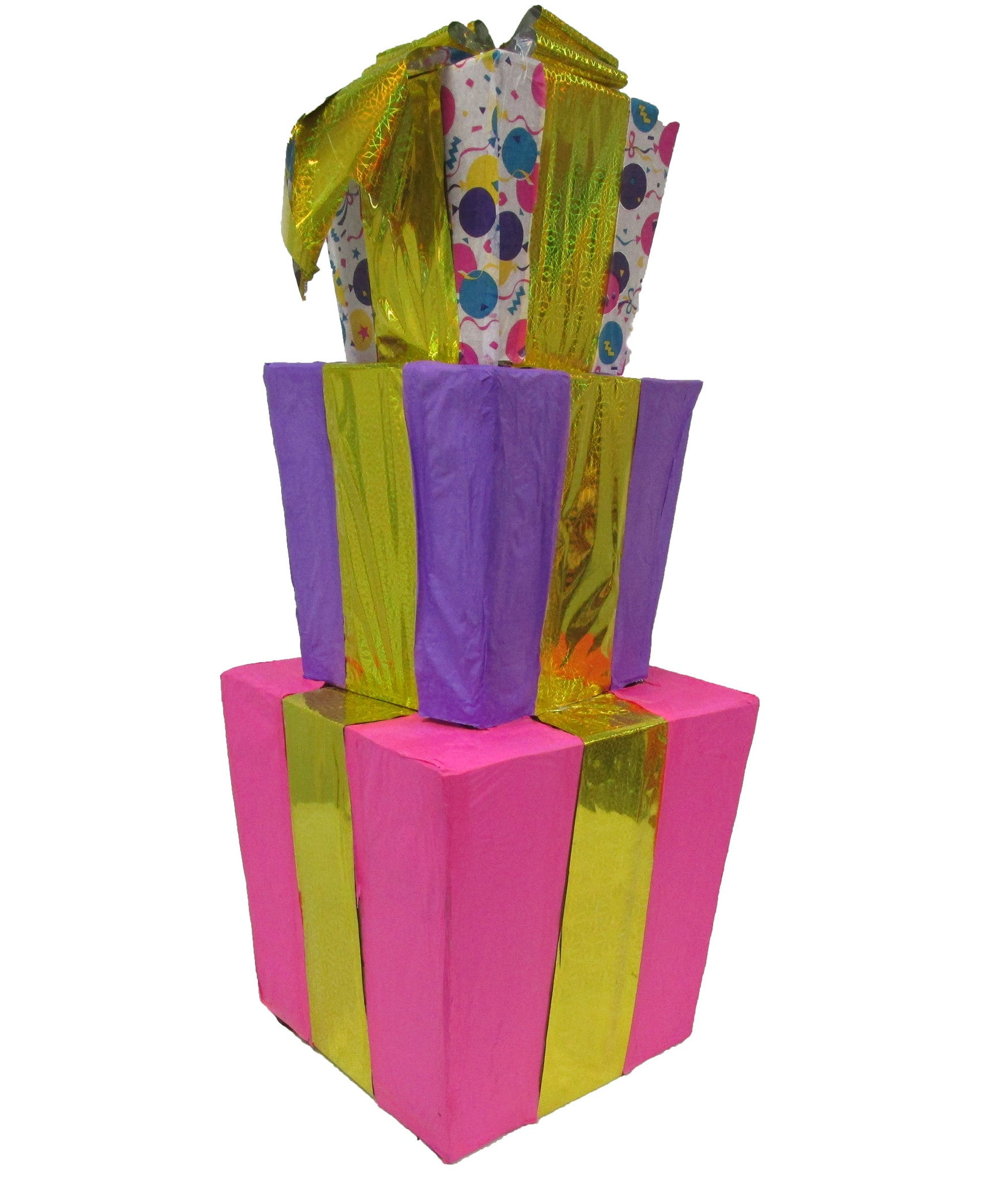 Large Signature Stack of Gifts for Girls Pinata