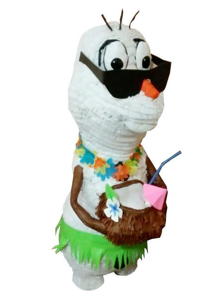 Large Signature Summer Snowman Pinata