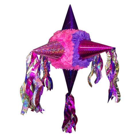 Holographic Satellite Pinata - Pink Purple