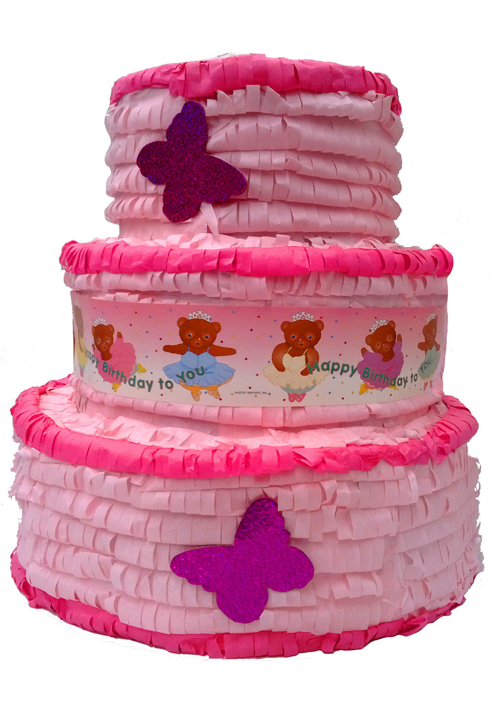 Large 3D Girls Birthday Cake Pinata