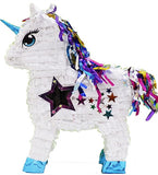 Holographic White Unicorn Pinata