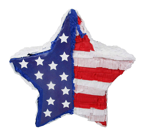 Patriotic Star 4th of July Party Pinata