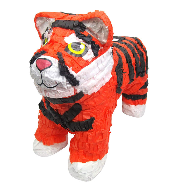 "Tiger Pinata, Jungle Party Game, Decoration and Photo Prop for Kids Birthdays, 20"" L"