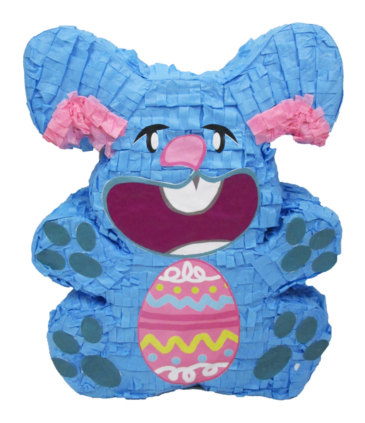 Blue Easter Bunny Pinata, Party Game, Decoration and Photo Prop for Easter Sunday or Baby Showers